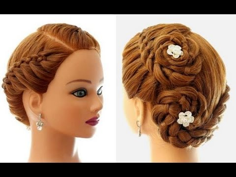 Braid Hairstyles For Long Hair Youtube : Hairstyle for everyday (4 Strand Braid). Updo for long hair - YouTube