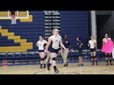 Full Game 8th Grade Volleyball Eastwood Middle Schoool vs Valley View Middle School 2017