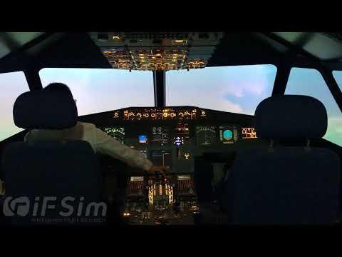 iFSim A320 Flight Simulator take off at Guangzhou Baiyun International Airport