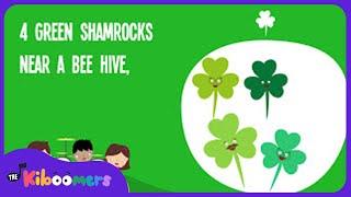 Five Little Shamrocks | Kids Song | Saint Patrick's Day Song for Children | Song Lyrics