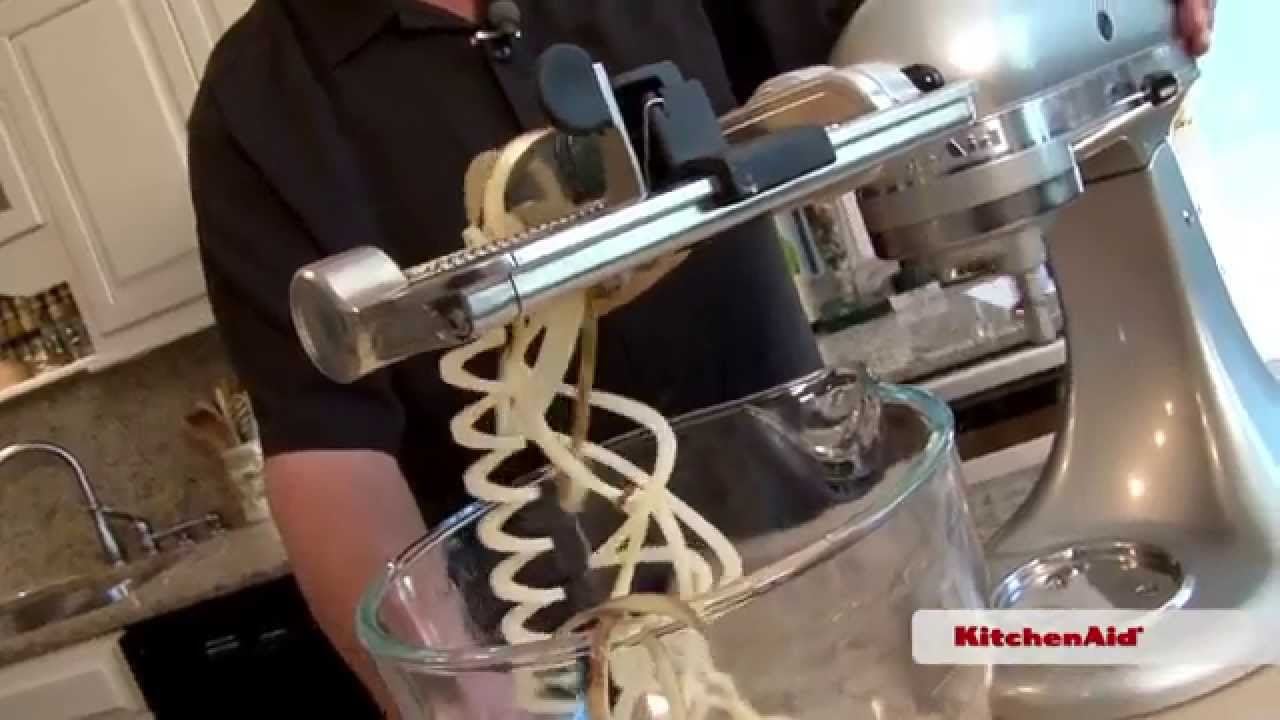 In The Chef S Corner Spiralizer Attachment Kitchenaid