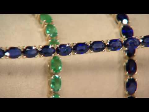 Ruby, Emerald or Sapphire Tennis Bracelet 14K Gold on QVC