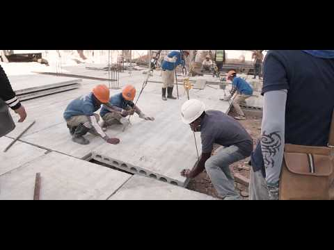 Phnom Penh Precast Construction Co., Ltd. (PPPC) – Ground Floor Hollow Core Installation