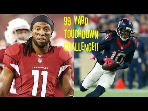 WHO CAN GET A 99YD TOUCHDOWN FIRST?!? LARRY FITZGERALD VS DEANDRE HOPKINS?!?