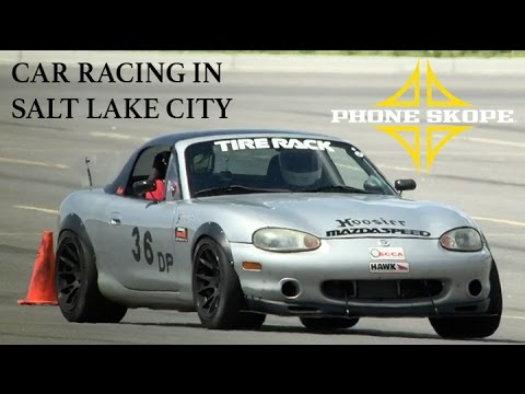 Car Racing in Salt Lake City - Digiscoped!