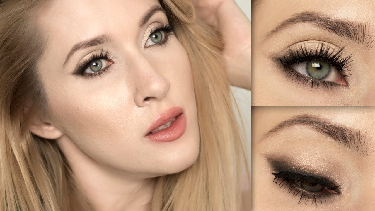 Party Makeup Tutorial U2605 Soft Cat Eye Look U2605 Holiday Glam For Blue/grey/green Eyes - YouTube