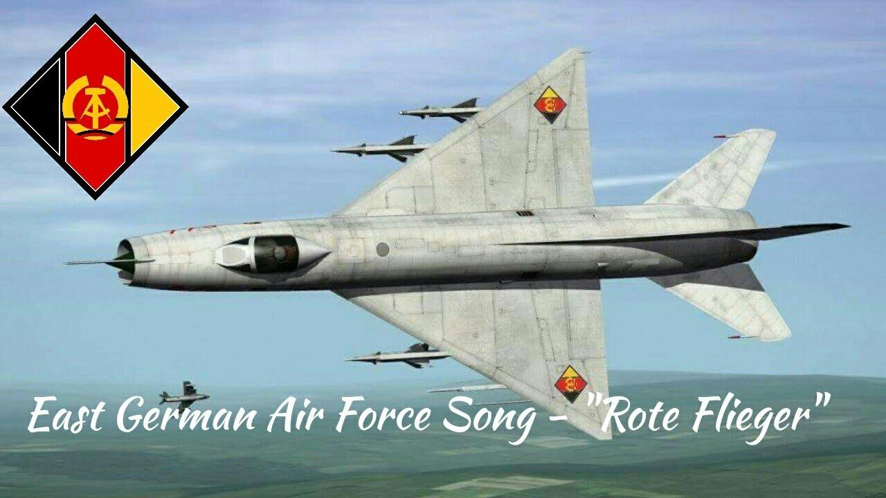 East German Air Force song-Rote Flieger german lyrics