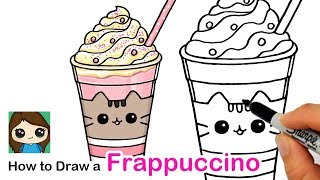 How to Draw a Cute Frappuccino Easy | Pusheen Cafe