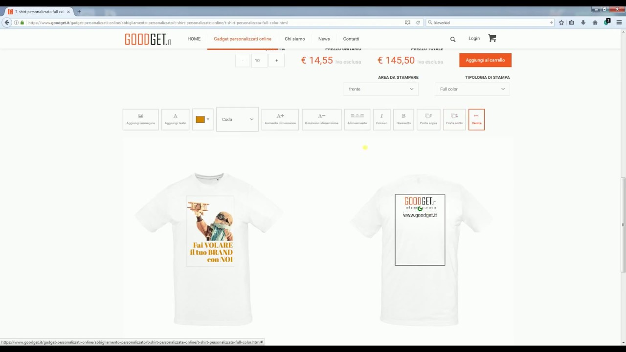 best website be4fc 94197 T shirt personalizzate online con stampa full colour - HOW TO