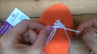 La Reína Mercería Creativa (Sandalias tejidas en macrame con cristal) Primera parte.