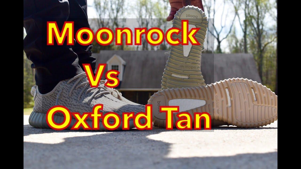 f360877156a39 Comparison  Adidas Yeezy Boost 350 - Moonrock Vs Oxford Tan - YouTube