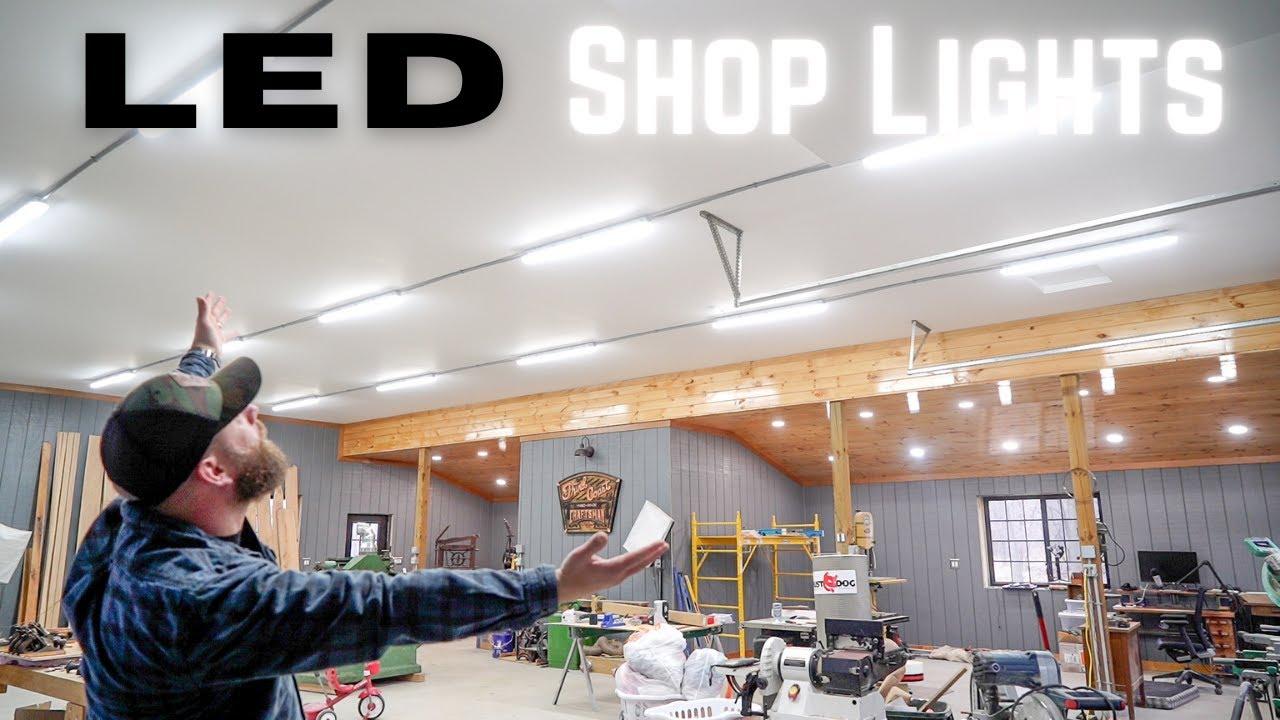 How To Install The Proper Shop Lighting! DIY LED // Dream Shop Build 4