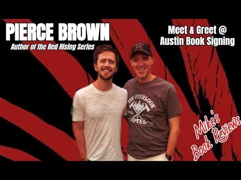 Mike's Book Reviews: Pierce Brown (Red Rising series) Meet & Greet @  Austin, TX Book Signing