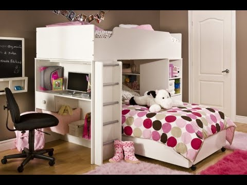 Furniture  Optimum Space Utility with Bunk Beds With Desk Underneath