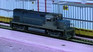 Custom Weathered Atlas C420 Lehigh & Hudson River #22 with QSI Sound