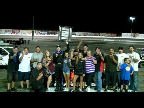 08/16/2014 - 11 Dylan Cappello Wins At Irwindale Speedway / Lucas Oil Modified Series