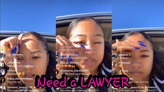 NBA Youngboy Sidechic Yung Blasian Tells People That Need A Lawyer To Check Her Out