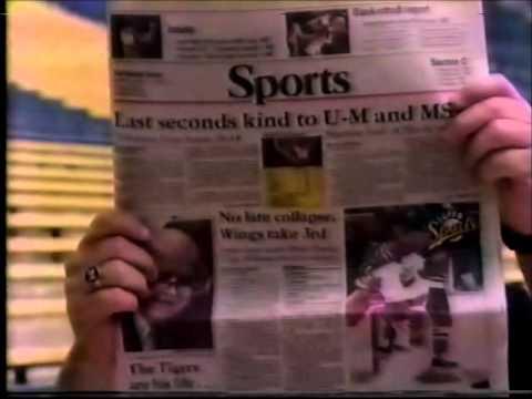 1985 Sparky Anderson Detroit Tigers Detroit News Commercial
