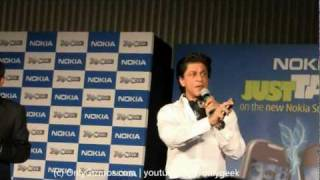 Shahrukh Khan Launches Nokia NFC enabled handsets 600, 700, 701