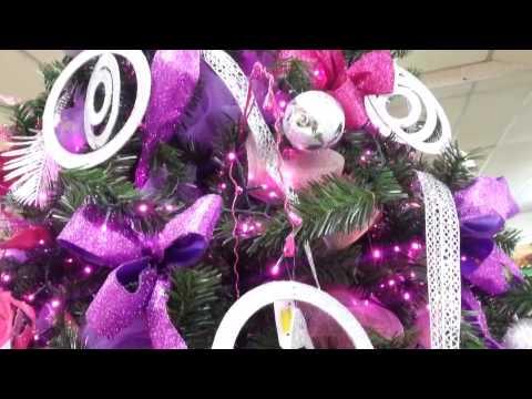 Decoracion arboles de navidad 2017 color violeta parte 6 - Arboles de navidad ...