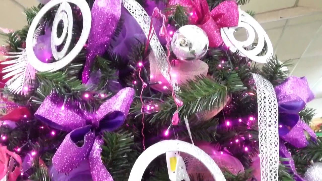 Decoracion arboles de navidad 2017 color violeta parte 6 - Arbol de navidad decorado ...