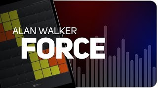 Playing FORCE   Alan Walker on SUPER PADS LIGHTS - Launchpad - KIT 4SEE