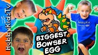 HobbyKids Hunt for the Giant BOWSER Surprise Egg!