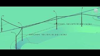 SS-2.2.Сети связи в Civil3D-Создание сети связи по характерной линии на примере воздушного кабеля