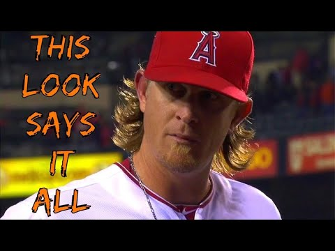 Jered Weaver Getting Pissed Off