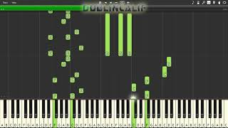 Deltarune - The Chase Theme Piano Tutorial Synthesia