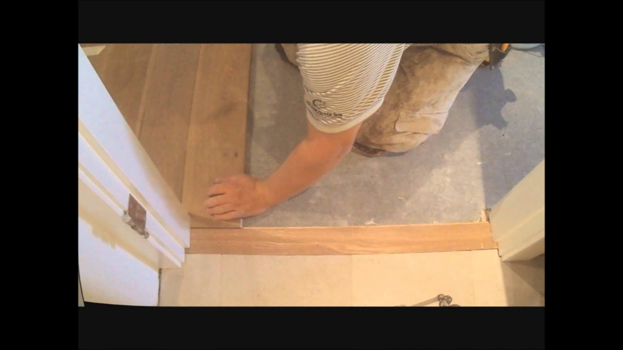 How to install flat hardwood floor transition to tile make it fit how to install flat hardwood floor transition to tile make it fit mryoucandoityourself youtube dailygadgetfo Images