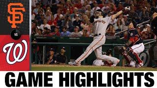Giants vs. Nationals Game 2 Highlights (6/12/21) | MLB Highlights
