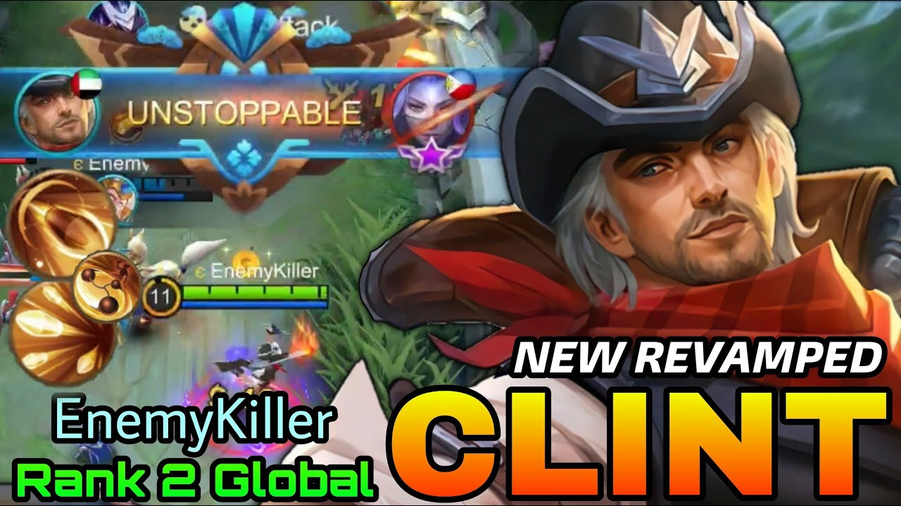 Wild Wanderer Clint New Revamped Gameplay - Top 2 Global Clint by EnemyKiller - MLBB