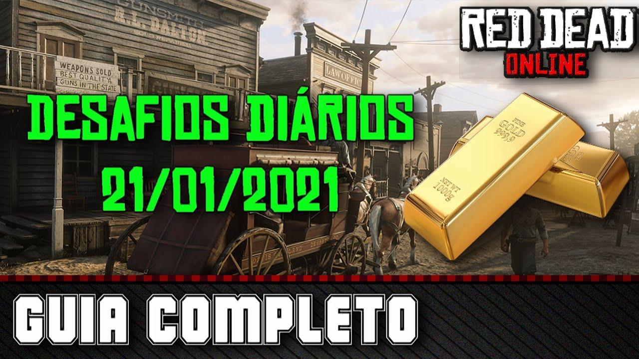 Desafios Diários - Red Dead Online 21/01/2021
