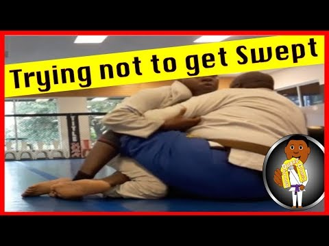 BJJ Roll No. 112 - Trying not to get swept - w/Coach Elijah