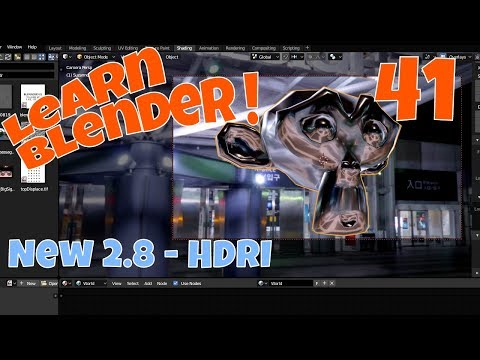 Blender 2.8 HDRI - Render Without A Background?  Watch And See.