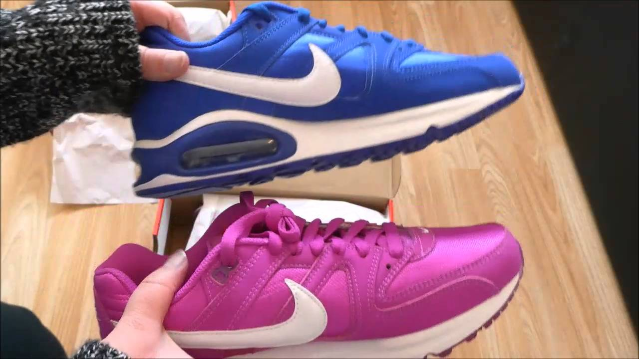 17d437ded8 Nike Air Max Command Violet and Blue   White Unboxing   On Feet ...