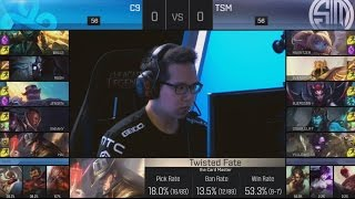C9 (Sneaky Lucian) VS TSM (Doublelift Kalista) Game 1 Highlights - 2016 NA LCS Spring QFs