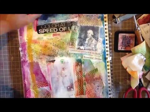 Creative Sunday Mixed Media Art Journal Page Tutorial  Color
