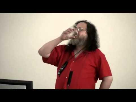 Richard Stallman lors des RMLL 2011