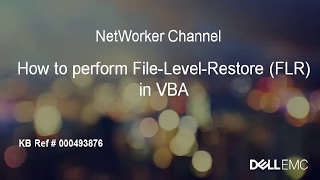 NetWorker: How to Perform File-Level-Restore (FLR) in VBA