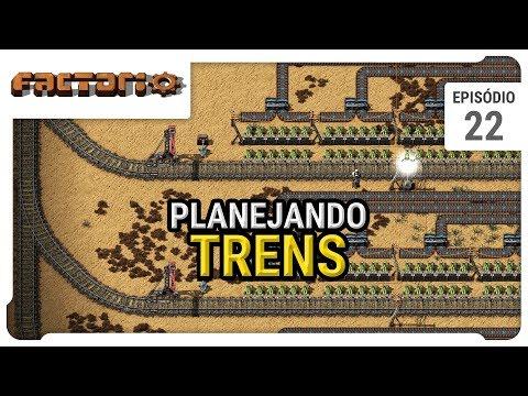Estação de Trem, planejamento - Factorio - ep 22 - pt-br