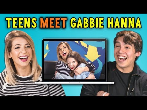 TEENS REACT TO GABBIE HANNA REACTS TO TEENS REACT TO GABBIE HANNA
