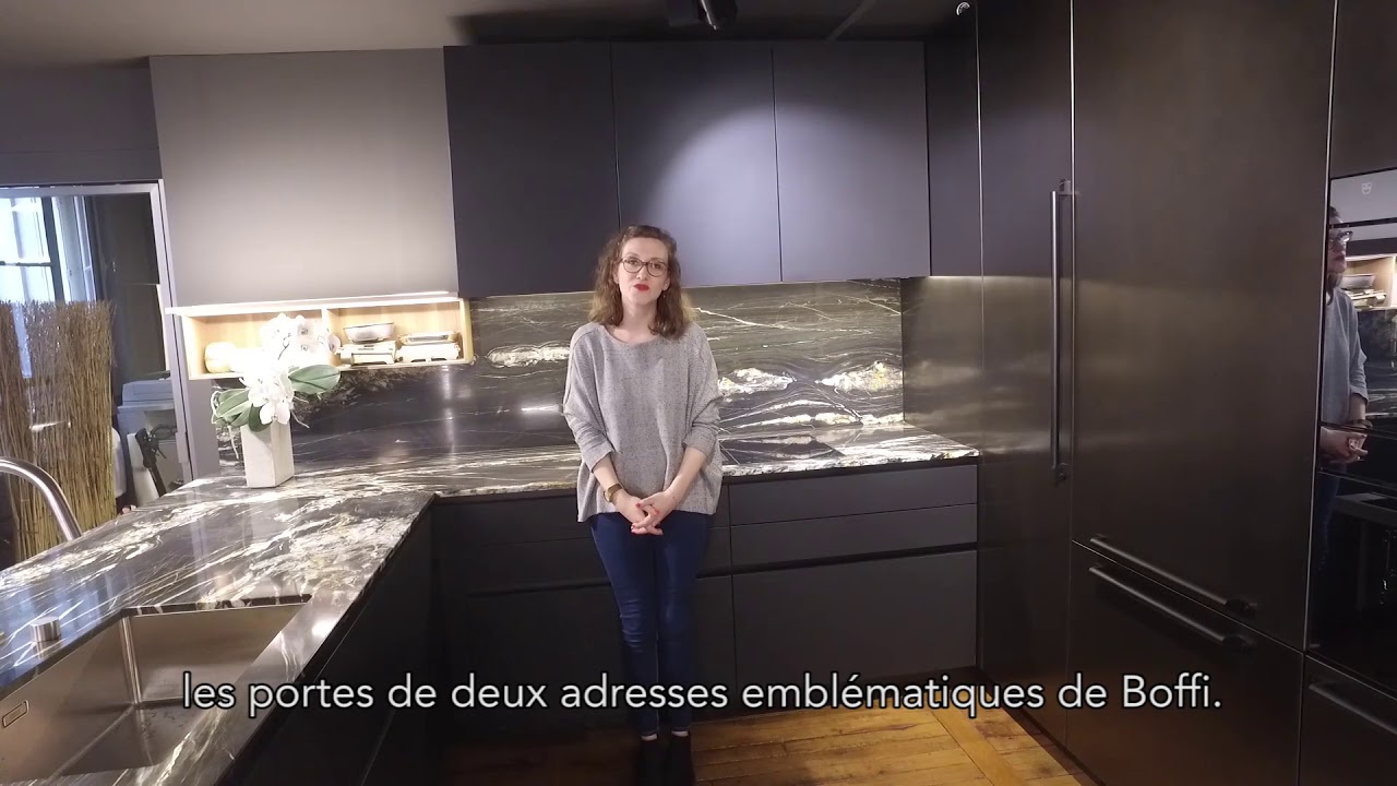 le showroom boffi saint germain fait peau neuve youtube. Black Bedroom Furniture Sets. Home Design Ideas