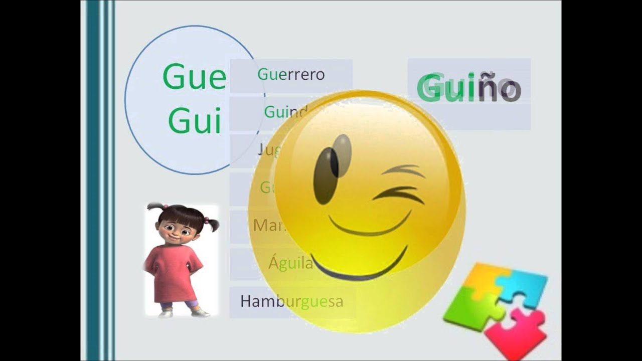 Video Informatica Educativa Palabras Con Ge Gi Y Gue Gui