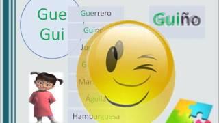 Video informatica educativa Palabras con Ge - Gi y Gue - Gui