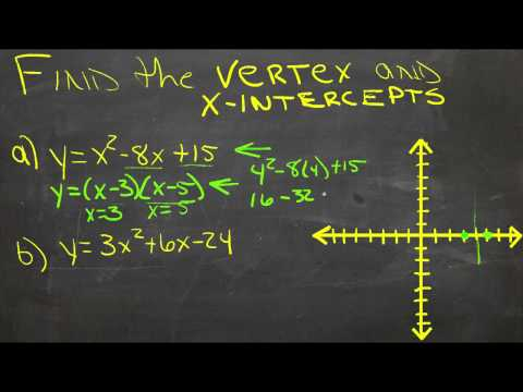 how to find x intercept from vertex form