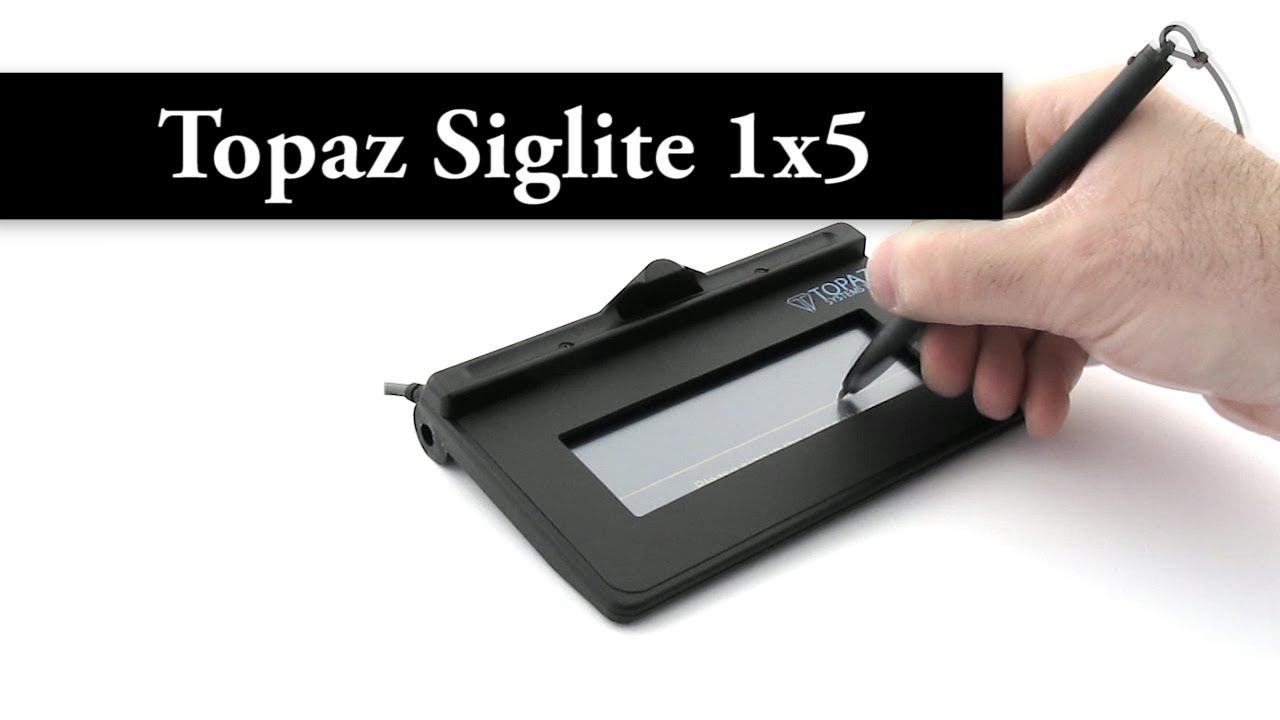 Topaz SigLite 1x5 - USB - T-S460-HSB-R - Signature Pad