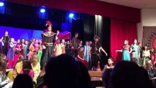 Lauren (Narrator One) in Aladdin Jr. at Hadley, song Arabian Nights