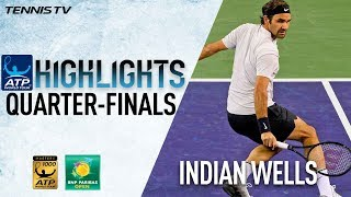 Highlights: Federer, Coric Surge Into Indian Wells SF 2018